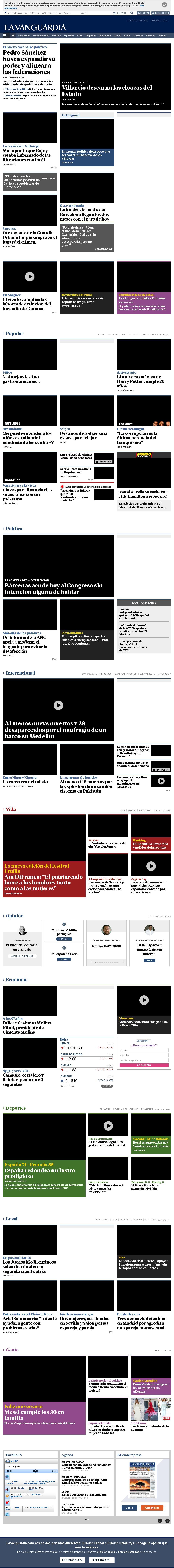La Vanguardia at Monday June 26, 2017, 6:22 a.m. UTC