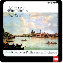 """Symphony no. 38 In D, """"Prague"""" / Symphony no. 39 In E flat by Mozart ;   Philharmonia Orchestra ,   Otto Klemperer"""