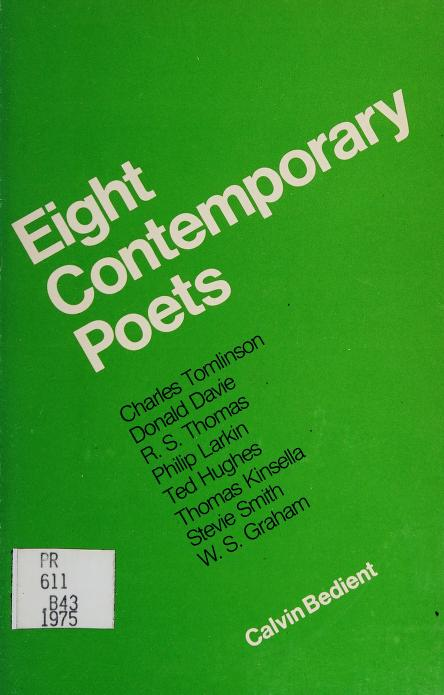 Eight Contemporary Poets by Calvin Bedient