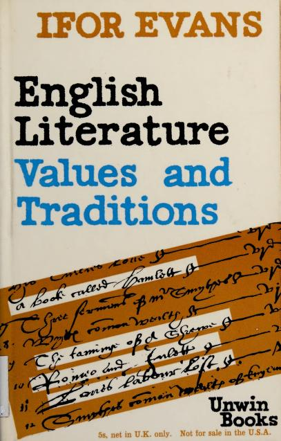 English literature by B. Ifor Evans