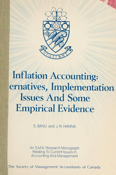 Inflation accounting by Sanjoy Basu