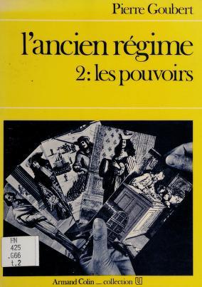 Cover of: L' ancien regime   P. Goubert