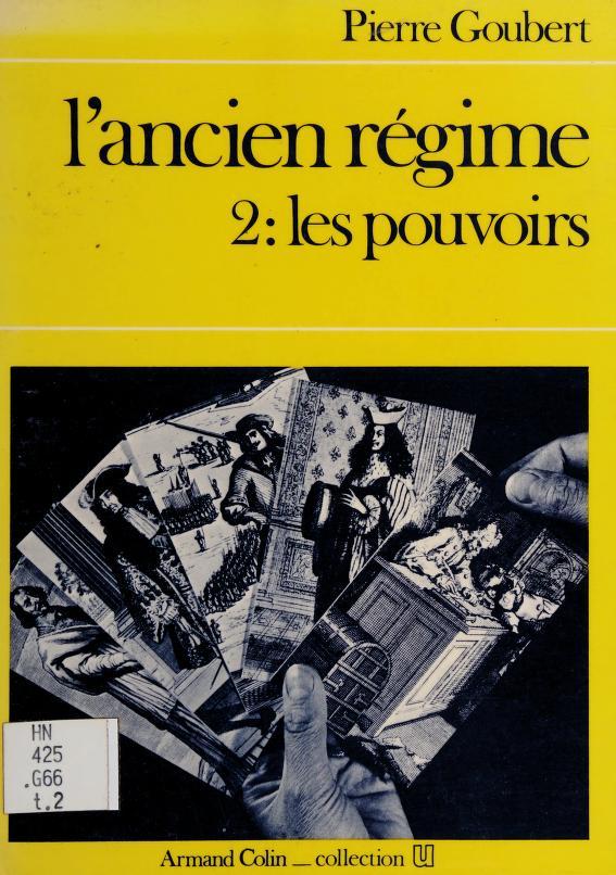 L' ancien regime by P. Goubert
