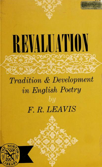 Revaluation by F. R. Leavis