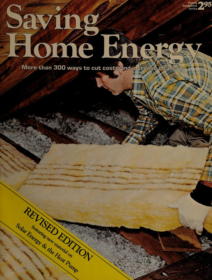 Saving Home Energy by Richard V. Nunn