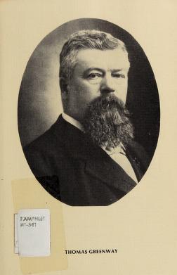 Cover of: Thomas Greenway   Manitoba. Historic Resources Branch